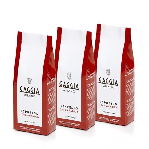 Gaggia gemahlenen Kaffee 3 x 250g