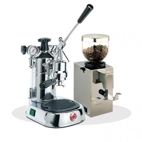 La Pavoni Professional PL LPLPLQ01EU  + Isomac Profi Kaffeemühle