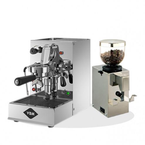 Vibiemme Domobar Inox + Isomac Profi Kaffeemühle