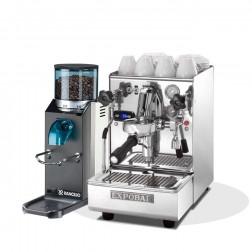 Expobar Brewtus IV Leva 2 Boiler Vibrationspumpe & Rancilio Rocky SD