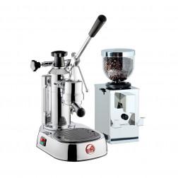 La Pavoni Europiccola EL LPLELQ01EU + Isomac Profi Kaffeemühle