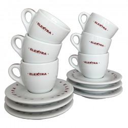 Elektra Espresso Tassen Weiß